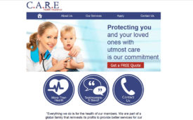 Care Health Insurance by Sari Cohen, HTML site