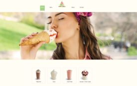 Three Scoops by Leah Steiner, HTML site